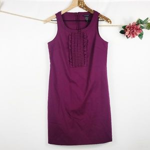 [BANANA REPUBLIC] Purple Ruffle Sheath Dress